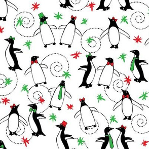 Merry Penguins (White)