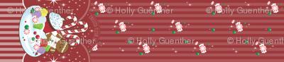 Christmas Fantasy Border Print
