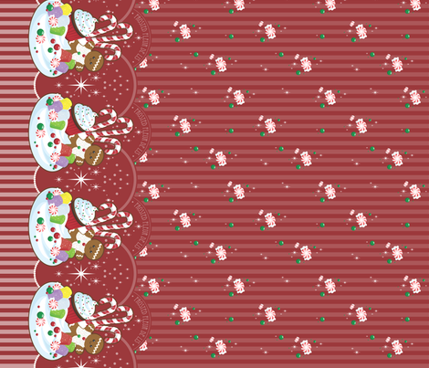 Christmas Fantasy Border Print fabric by frostedfleurdelis on Spoonflower - custom fabric