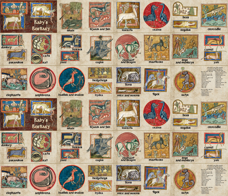 Baby's Bestiary fabric by quinnanya on Spoonflower - custom fabric