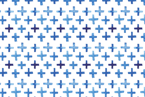 Tight Watercolor Cross Pattern fabric by katebutler on Spoonflower - custom fabric