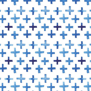 Tight Watercolor Cross Pattern