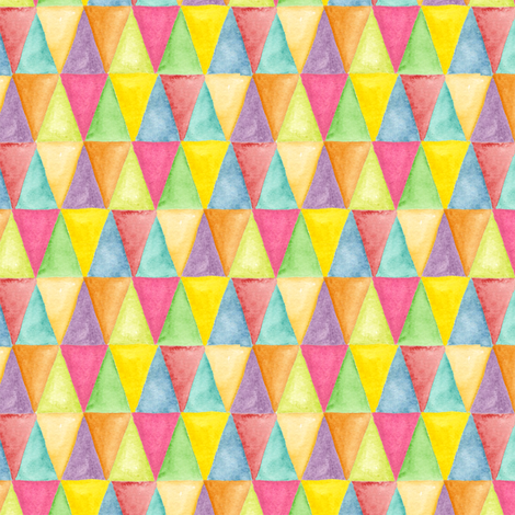 Watercolor triangles fabric by katrinazerilli on Spoonflower - custom fabric