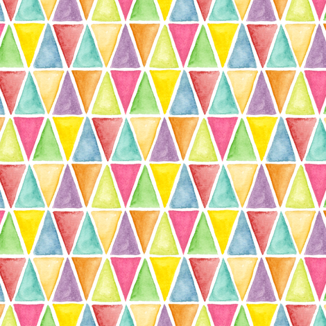 Watercolor triangles fabric by katrinazerilli on Spoonflower - custom fabric