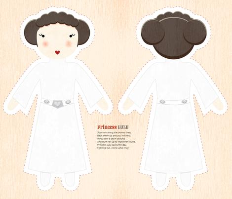 Cut-and-Sew Princess Lulu fabric by pollyannahandmade on Spoonflower - custom fabric