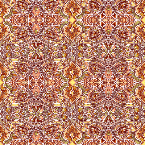 Paisley Star Autumn fabric by edsel2084 on Spoonflower - custom fabric