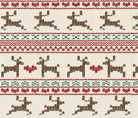 Reindeer Fair Isle fabric - kmsupply - Spoonflower