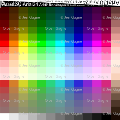 8x8 Swatch Color Chart (Palette, Color Map)