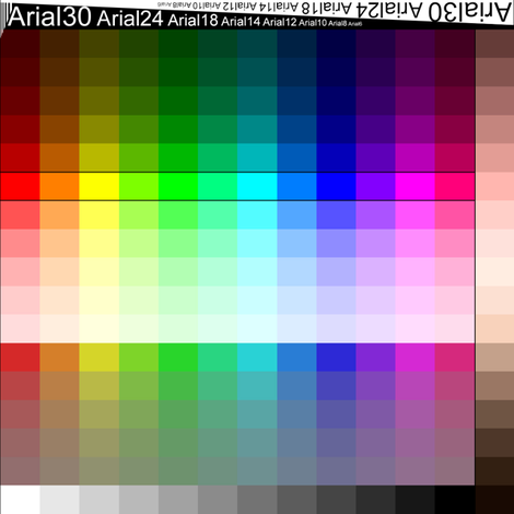 8x8 Swatch Color Chart (Palette, Color Map) fabric by pixelscapes on Spoonflower - custom fabric
