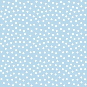mitten dots icy blue
