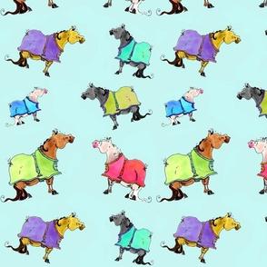 Dana's Doodles Ponies in Blankets