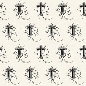 Fleur de Lis Cross