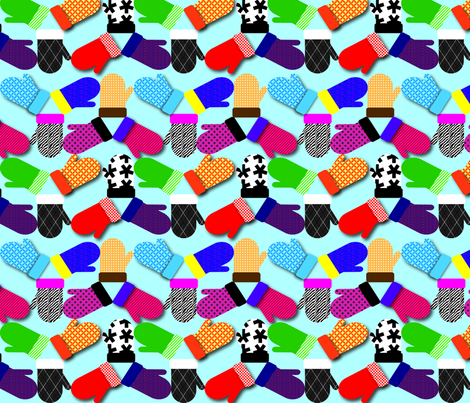 Ditsy_Mittens3 fabric by medamade on Spoonflower - custom fabric