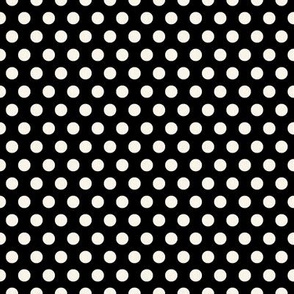Cream Polkadots on Black