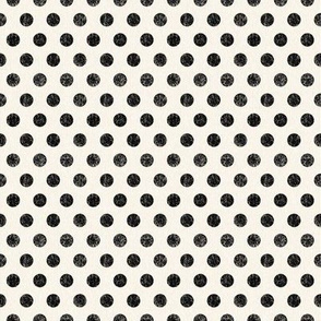 Black Polkadots on Cream