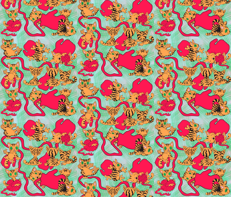 kitties and mits fabric by iesza-jessica on Spoonflower - custom fabric