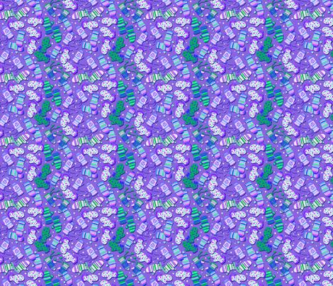 _HO!HO!HO! SANTA_COMES_HERE fabric by miss_pipi on Spoonflower - custom fabric