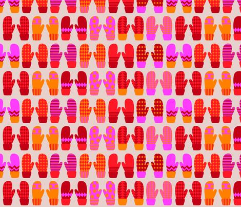 Mittens fabric by oohoo on Spoonflower - custom fabric