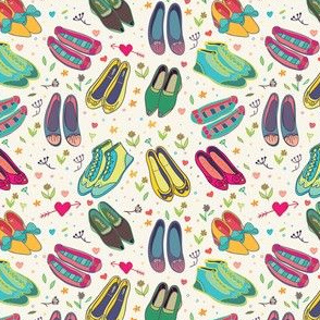 beautiful shoes seamless pattern