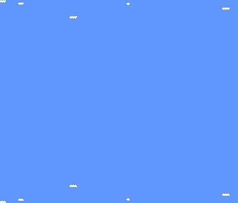 Mario World fabric by dizzylizzyx on Spoonflower - custom fabric