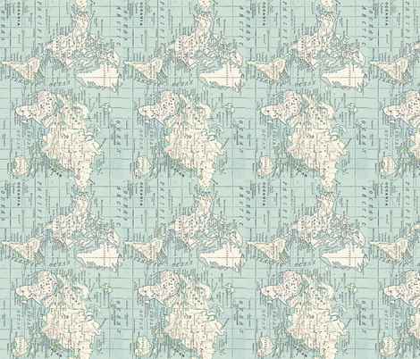 World Map Fabric Repeat fabric by aftermyart on Spoonflower - custom fabric