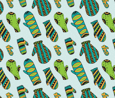 Mittens fabric by siricreative on Spoonflower - custom fabric