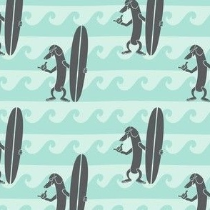 Surf Dachshund - Mini