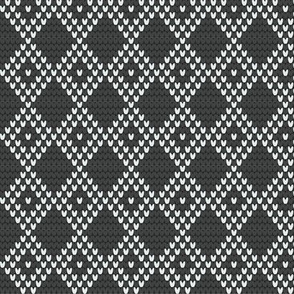 DIAMOND GRID gray/white