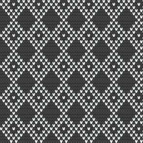 DIAMOND GRID gray/white