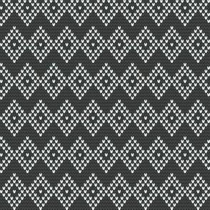 DIAMOND CHEVRON gray/white