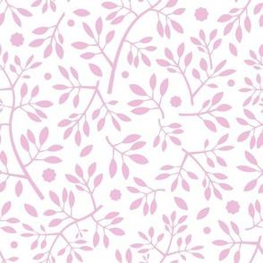 Blenheim stems/pink on white