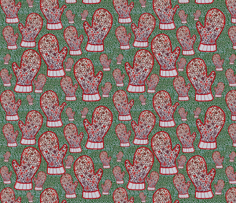 Keep Warm Friends fabric by clairekalinadesigns on Spoonflower - custom fabric
