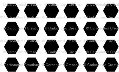 Hexagon Dots Inverted