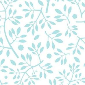 Blenheim stems/blue on white