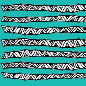 Zen strips teal