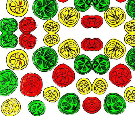 Citrus fabric by vibrantkicks on Spoonflower - custom fabric