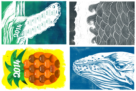 2014-calendar-set fabric by aldea on Spoonflower - custom fabric