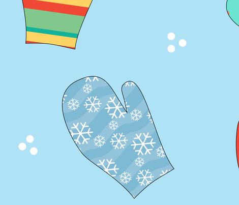 Winter Mittens fabric by debbiek on Spoonflower - custom fabric
