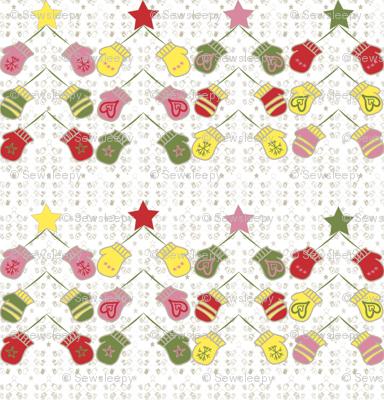 Christmas Tree Mittens