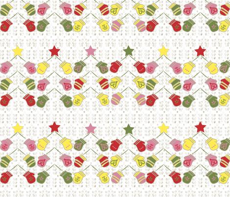 Christmas Tree Mittens fabric by sarah_price on Spoonflower - custom fabric