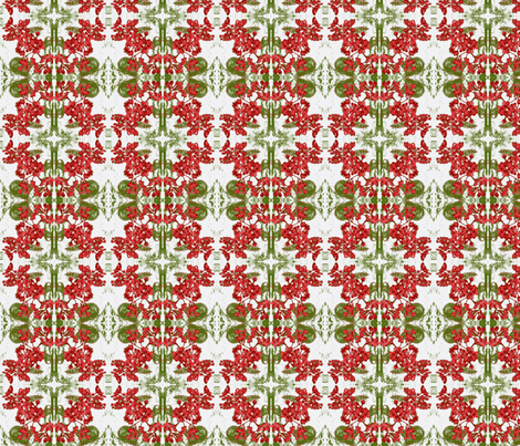Mosaic of christmas time fabric by kumate on Spoonflower - custom fabric