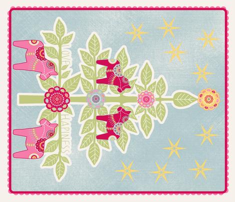 """sapin de noël mural""  fabric by nadja_petremand on Spoonflower - custom fabric"