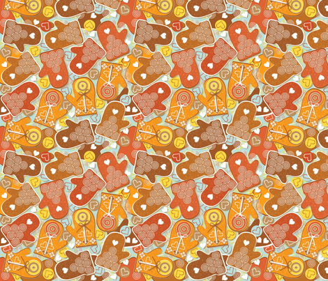Ginger Mitsy fabric by paula's_designs on Spoonflower - custom fabric
