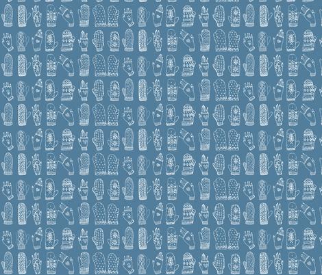 Mittens fabric by comfortablyblue on Spoonflower - custom fabric