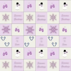 Pink snowman & mittens