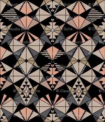 Kaleidoscope - Peach Gray