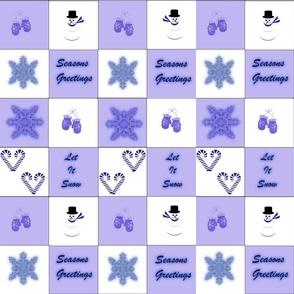 Mittens purple