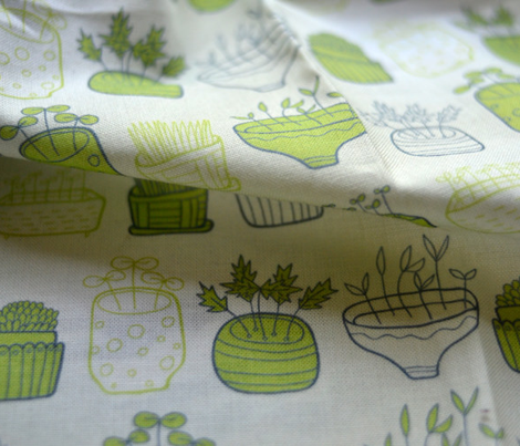 small garden seamless pattern