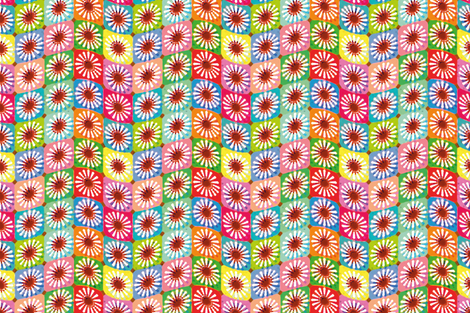 Daisy flowers fabric by cassiopee on Spoonflower - custom fabric