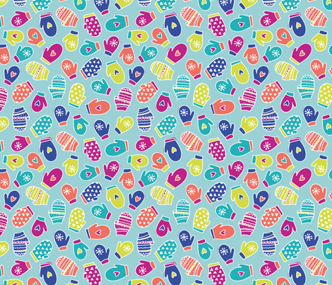 Merry Mittens fabric by rosiesimons on Spoonflower - custom fabric